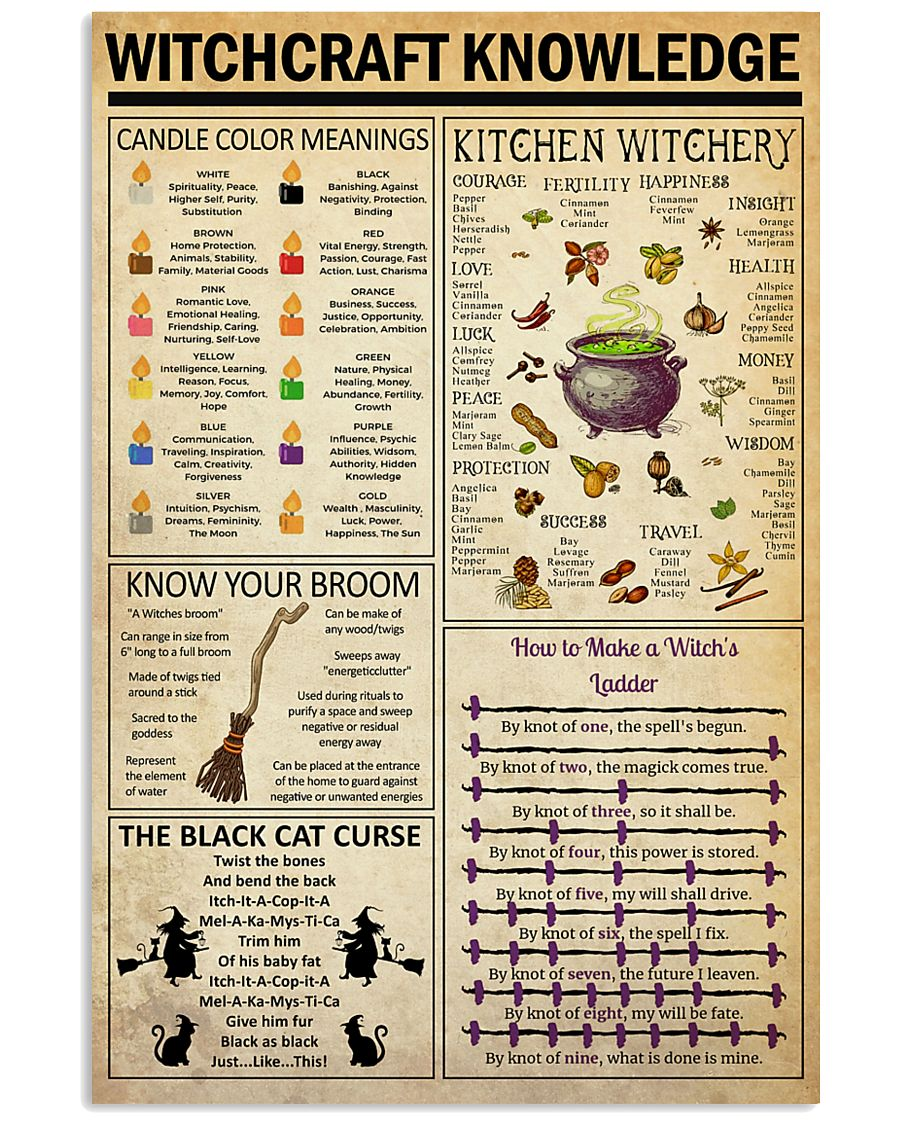 Witchcraft  Knowledge   24x36 Poster