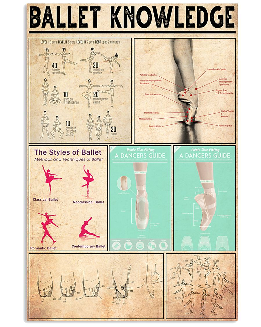 BALLET KNOWLEDGE  24x36 Poster