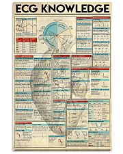 ECG KNOWLEDGE 11x17 Poster front