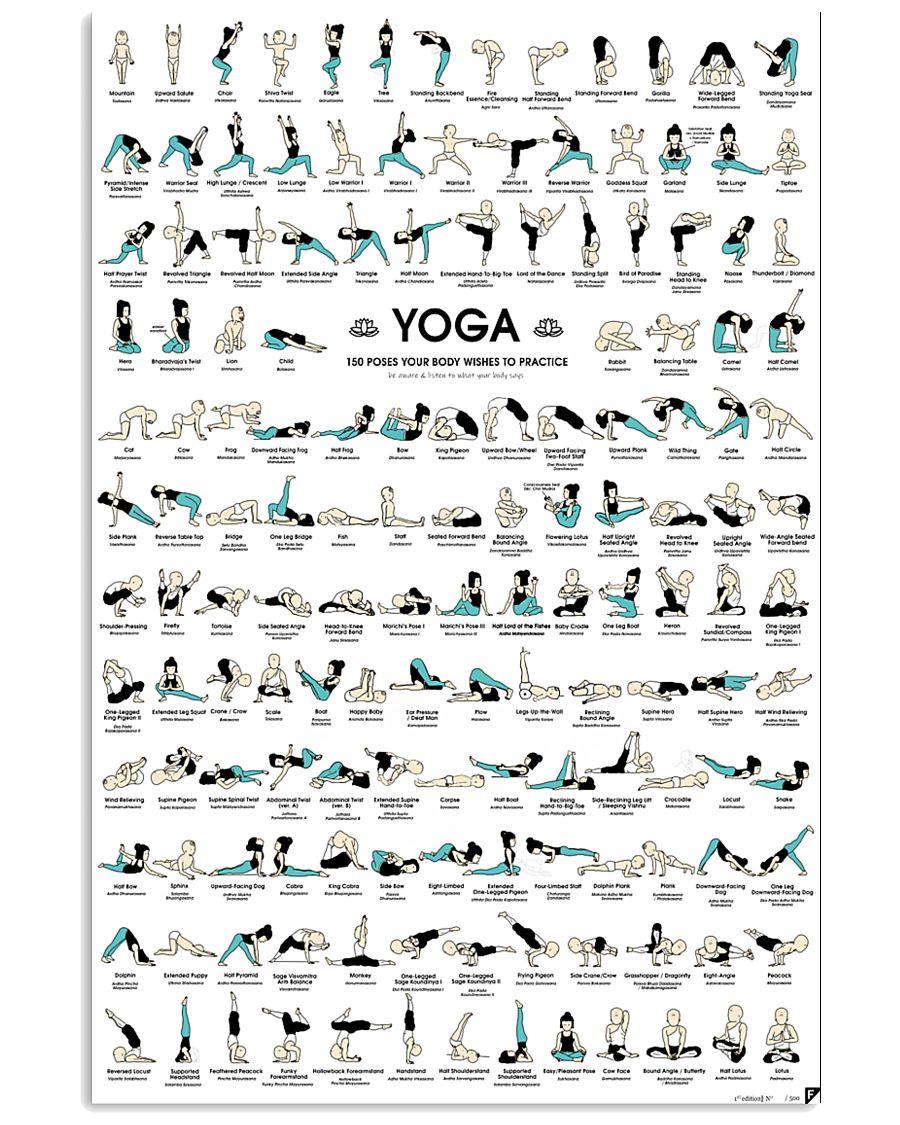 Yoga Posture  11x17 Poster