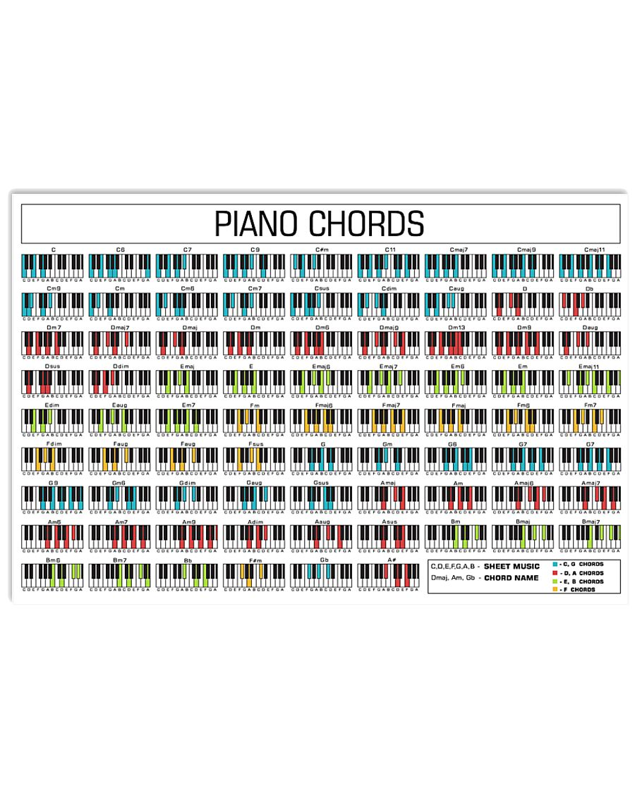 Piano Chords 17x11 Poster