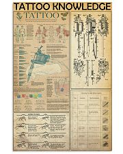 TATTOO KNOWLEDGE  24x36 Poster front