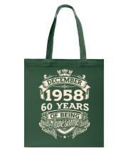 December C-1958 Tote Bag thumbnail