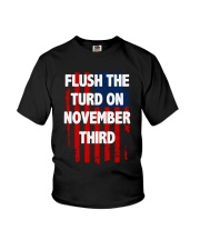 Flush The Turd On November Third Youth T-Shirt thumbnail