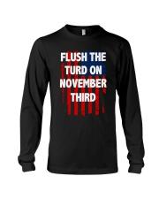 Flush The Turd On November Third Long Sleeve Tee thumbnail