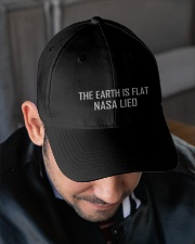 The Earth is Flat - NASA LIED Hat Embroidered Hat garment-embroidery-hat-lifestyle-02