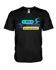 Be Bold Make History V-Neck T-Shirt thumbnail