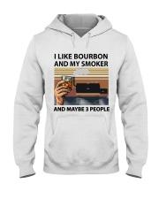 I LIKE BOURBON AND MY SMOKER Hooded Sweatshirt thumbnail