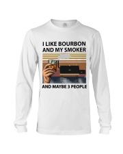 I LIKE BOURBON AND MY SMOKER Long Sleeve Tee thumbnail