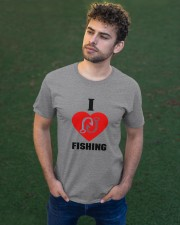 I LOVE FISHING Classic T-Shirt apparel-classic-tshirt-lifestyle-front-43
