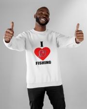 I LOVE FISHING Crewneck Sweatshirt apparel-crewneck-sweatshirt-lifestyle-front-05
