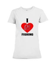 I LOVE FISHING Premium Fit Ladies Tee thumbnail