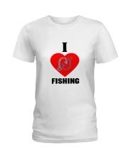 I LOVE FISHING Ladies T-Shirt thumbnail