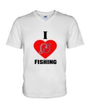 I LOVE FISHING V-Neck T-Shirt thumbnail