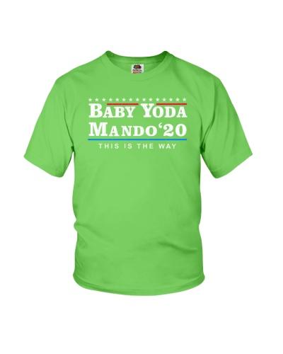 baby yoda mando 2020 shirt
