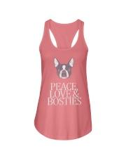 Peace Love and Bosties  Ladies Flowy Tank thumbnail