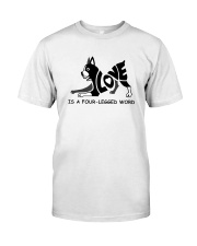 Love Is A Four-Legged Word Classic T-Shirt thumbnail