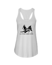 Love Is A Four-Legged Word Ladies Flowy Tank tile