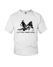 Love Is A Four-Legged Word Youth T-Shirt tile