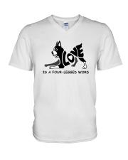 Love Is A Four-Legged Word V-Neck T-Shirt thumbnail