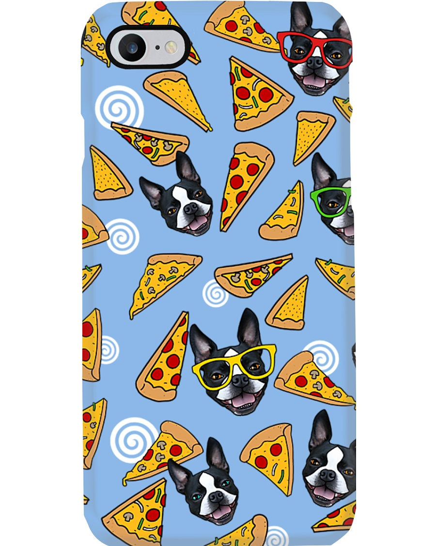 Boston Terrier Pizza Pizza Phone Case