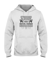 Stressed Blessed and Boston Terrier Obsessed Hooded Sweatshirt thumbnail