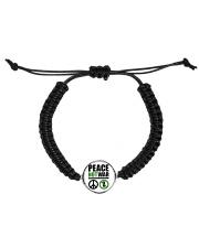 Peace-Not-War Cord Circle Bracelet thumbnail