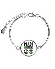 Peace-Not-War Metallic Circle Bracelet thumbnail