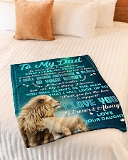 """To Dad - In Your Heart - Small Fleece Blanket - 30"""" x 40"""" aos-coral-fleece-blanket-30x40-lifestyle-front-01"""