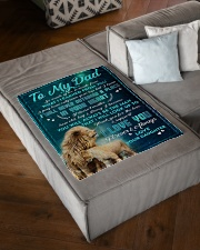 """To Dad - In Your Heart - Small Fleece Blanket - 30"""" x 40"""" aos-coral-fleece-blanket-30x40-lifestyle-front-03"""
