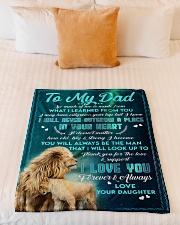 """To Dad - In Your Heart - Small Fleece Blanket - 30"""" x 40"""" aos-coral-fleece-blanket-30x40-lifestyle-front-04"""