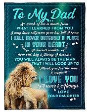 """To Dad - In Your Heart - Small Fleece Blanket - 30"""" x 40"""" front"""