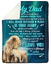 """To Dad - In Your Heart - Large Sherpa Fleece Blanket - 60"""" x 80"""" thumbnail"""