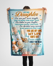 """To Daughter - You're My Love - Small Fleece Blanket - 30"""" x 40"""" aos-coral-fleece-blanket-30x40-lifestyle-front-14"""
