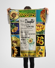 """To Daughter - Trust Your Gut - Small Fleece Blanket - 30"""" x 40"""" aos-coral-fleece-blanket-30x40-lifestyle-front-14"""