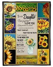 "To Daughter - Trust Your Gut - Small Fleece Blanket - 30"" x 40"" front"