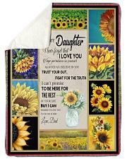 To Daughter - Trust Your Gut - Sherpa Fleece Blanket tile