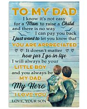 To Dad - my hero 11x17 Poster front