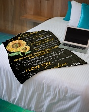"""To Daughter - My Sunshine - Small Fleece Blanket - 30"""" x 40"""" aos-coral-fleece-blanket-30x40-lifestyle-front-10"""