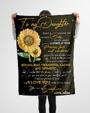 """To Daughter - My Sunshine - Small Fleece Blanket - 30"""" x 40"""" aos-coral-fleece-blanket-30x40-lifestyle-front-14"""