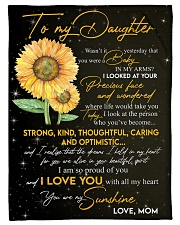 """To Daughter - My Sunshine - Small Fleece Blanket - 30"""" x 40"""" front"""