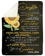 "To Daughter - My Sunshine - Large Sherpa Fleece Blanket - 60"" x 80"" thumbnail"