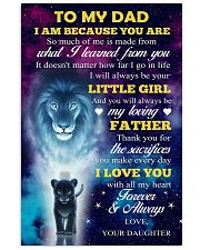 To Dad - All My Heart 11x17 Poster front