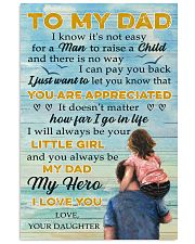 To Dad - My Dad My Hero - 11x17 Poster front