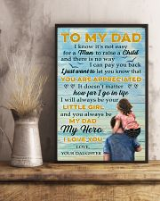 To Dad - My Dad My Hero - 11x17 Poster lifestyle-poster-3