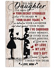 To Daughter - My Love - 11x17 Poster front