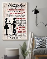 To Daughter - My Love - 11x17 Poster lifestyle-poster-1
