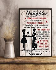 To Daughter - My Love - 11x17 Poster lifestyle-poster-3