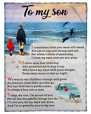 """To Son - I'm Proud Of You Small Fleece Blanket - 30"""" x 40"""" front"""