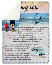 To Son - I'm Proud Of You Sherpa Fleece Blanket tile